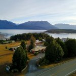 View of lake Te Anau and the mountains of Fiordland