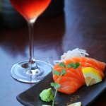 Our Tasmanian Salmon Sashimi from the fresh crystal blue waters of the Huon river.