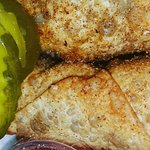 Hot catfish(singe), Shrimp and grits,  Hot shrimp,  Hot chicken breakfast,  Hot chicken Egg roll