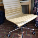 Awesome legit retro desk chair, perfect condition. I hope it remains after conversion to DoubleT