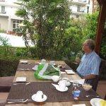 Outdoor area where we had breakfast