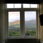 View from our room at Peebles Hydro Hotel (06/Sept/17).