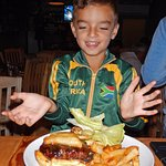"""""""Best burgers in Cape Town."""" The kid don't lie."""