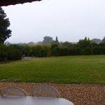 vue depuis la terrasse (brouillard ce matin là...)