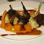 Grouse, butternut squash, savoy cabbage, truffle mash