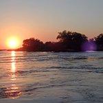 Zambezi sunset from boat going home