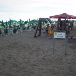 spiaggia privata a 100mt