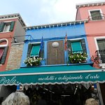 The lace-making and fine sewing shop of La Perla on Burano.