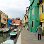 Alongside the canal on the island of Burano, population 3,000.