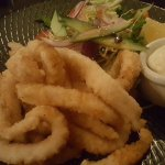 Perfectly cooked calamari, melts in your mouth
