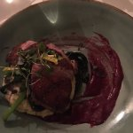Duck with blueberry reduction. Terrific!