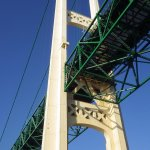 View from below the Mackinac Bridge from Ugly Annie