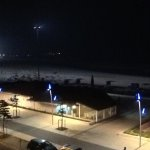 Floodlit beach