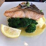 Atlantic Salmon with Mash and Broccoli