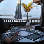 Good food and great view....