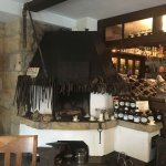 The old blacksmiths forge in the restaurant.