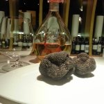 Armagnac and black truffles - two of the ingredients to create our starter of lobster & black ri