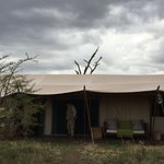 """Lemala Ewanjan Tented Camp - luxury tent with flush toilet and """"talking shower"""""""