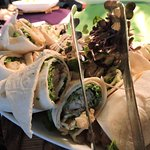 Wraps of all sorts in our restaurant.