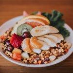 Breakfast Salad - Fresh cut fruit, yogurt, and house-made granola!