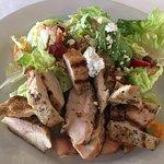 Bib lettuce salad with chicken