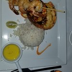 Shrimp and Lobster tail at Neptunes Restaurant