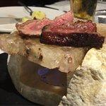 Steak on salt stone