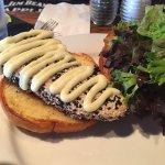 Rare Sesame Covered Tuna Sandwich
