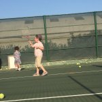 Kids can play tennis from an early age on.