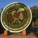 "Royal Canadian Mint sponsored ""plant 150 Canada anniversary coin"" at the Gatineau2017 exhibit"