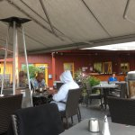 awnings & heaters keep it comfortable