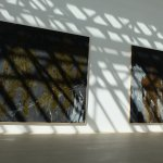 paintings by Baselitz with light/shadow, photo by Drager Meurtant artist alias