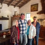 Inside historic adobe where pancake breakfast and buffet is offered