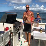 Great snorkel and sail with the captain on the grill for lunch.