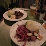 corned beef and bangers and mash