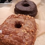 Peanut butter squared doughnut and chocolate chocolate