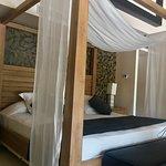 Bedroom in plunge pool suite