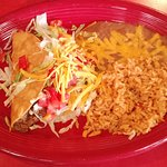 One ground beef taco combo plate: perfect size for lunch.