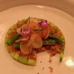salmon appetizer on prix-fixe
