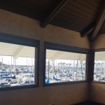 View of boats in the marina from the Sunset Room.