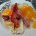 My buffet breakfast choices. There were many different types of foods to select for your breakfa