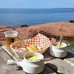 Creamy seafood chowder with a view!!!