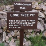 Trail sign. The South Quarry Trail is short and easy.