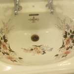 Sink at the castle restroom