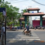Park beside Pham Ngu Lao street