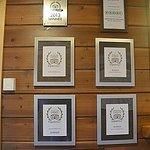 Trip Advisor certificates.