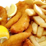 Crumbed blue cod & Chips
