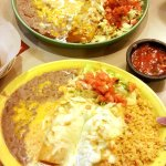 ENCHILADAS! The corn tortillas are to die for!
