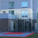 Basketball court shared with homewood suites next door