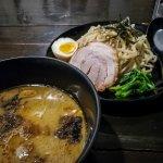 Tsukemen ramen and an Asahi beer